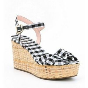 ♠️ Kate spade Gingham wedge Sandals